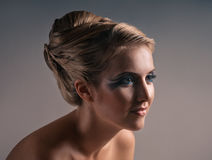Retrato del maquillaje y de la moda imágenes de archivo libres de regalías