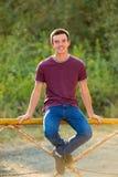 Retrato del mayor de High School secundaria del hombre joven Imagen de archivo