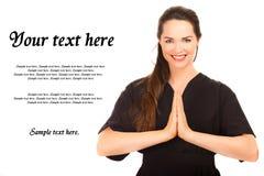 Retrato del mensaje hermoso Foto de archivo libre de regalías
