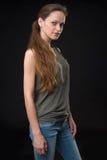 Retrato del modelo femenino hermoso fotos de archivo libres de regalías