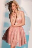 Retrato del modelo hermoso en ropa de la moda Imagen de archivo