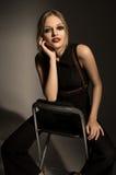 Retrato del modelo hermoso en ropa de la moda Imagenes de archivo