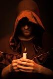 Retrato del monje irreconocible del misterio imágenes de archivo libres de regalías