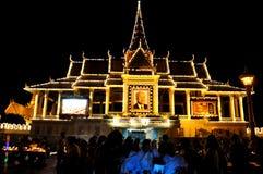 Retrato del monumento de rey Norodom Sihanouk Imagen de archivo
