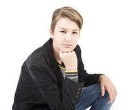 Retrato del muchacho adolescente hermoso Fotografía de archivo libre de regalías