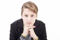 Retrato del muchacho adolescente hermoso Imágenes de archivo libres de regalías