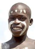 Retrato del muchacho africano Imagenes de archivo