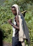 Retrato del muchacho africano Fotos de archivo libres de regalías