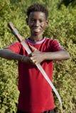 Retrato del muchacho africano Foto de archivo