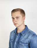 Retrato del muchacho de mirada enojado Imagen de archivo libre de regalías