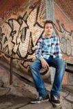 Retrato del muchacho del adolescente adentro al aire libre Imagenes de archivo