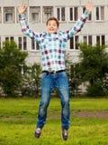 Retrato del muchacho del adolescente del salto Imagenes de archivo