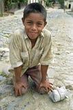 Retrato del muchacho del Latino con la cara dañosa Imágenes de archivo libres de regalías