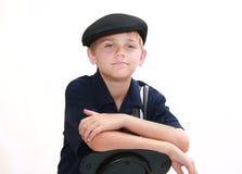 Retrato del muchacho en azul imagenes de archivo