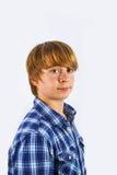 Retrato del muchacho feliz joven lindo Foto de archivo
