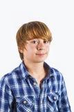 Retrato del muchacho feliz joven lindo Fotografía de archivo libre de regalías