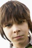 Retrato del muchacho Frowing Imágenes de archivo libres de regalías