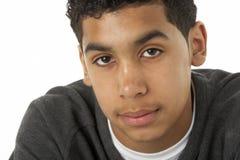 Retrato del muchacho joven pensativo Imagen de archivo