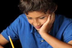 Retrato del muchacho joven - serie del claroscuro foto de archivo libre de regalías