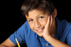 Retrato del muchacho joven - serie del claroscuro imagen de archivo libre de regalías
