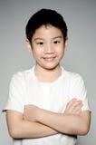 Retrato del muchacho lindo asiático feliz Imagen de archivo libre de regalías