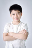 Retrato del muchacho lindo asiático feliz Imágenes de archivo libres de regalías