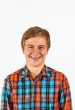 Retrato del muchacho lindo sonriente Foto de archivo