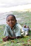 Retrato del muchacho malgache joven del adolescente Imagen de archivo libre de regalías