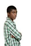 Retrato del muchacho negro imágenes de archivo libres de regalías