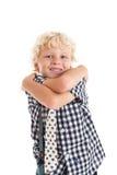 Retrato del muchacho rubio Imagen de archivo
