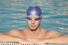 Retrato del nadador Fotografía de archivo libre de regalías