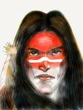 Retrato del nativo americano Foto de archivo libre de regalías