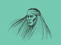Retrato del nativo americano Imágenes de archivo libres de regalías