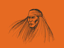 Retrato del nativo americano Fotografía de archivo