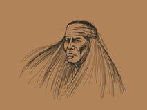 Retrato del nativo americano Imagen de archivo libre de regalías