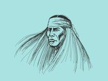 Retrato del nativo americano Imagen de archivo