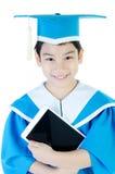 Retrato del niño asiático con la tableta Fotografía de archivo libre de regalías