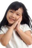 Retrato del niño asiático feliz fotografía de archivo libre de regalías