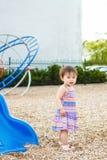 Retrato del niño asiático lindo que juega en parque Fotografía de archivo libre de regalías