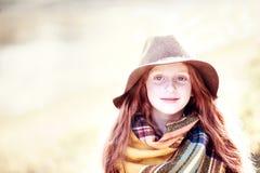 Retrato del niño del otoño Imágenes de archivo libres de regalías