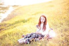 Retrato del niño del otoño Foto de archivo