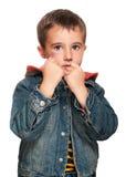 Retrato del niño pequeño con la contusión foto de archivo libre de regalías