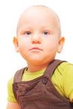 Retrato del niño pequeño en blanco Imagenes de archivo