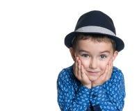 Retrato del niño pequeño hermoso alegre feliz Imágenes de archivo libres de regalías