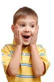 Retrato del niño sorprendido Foto de archivo libre de regalías