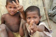 Retrato del niño tribal en un pueblo en la India Fotografía de archivo libre de regalías