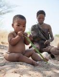 Retrato del niño de los bosquimanos en Botswana Foto de archivo libre de regalías