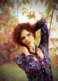 Retrato del otoño de una muchacha Foto de archivo libre de regalías