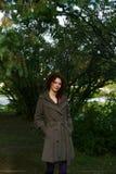 Retrato del otoño de una muchacha Foto de archivo