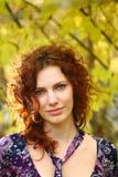 Retrato del otoño de una muchacha Fotos de archivo libres de regalías